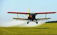 Внесение пестицидов авиацией — самолетом Ан-2